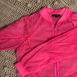 Jackets & Blazers - Neon Pink Ambiance Bomber